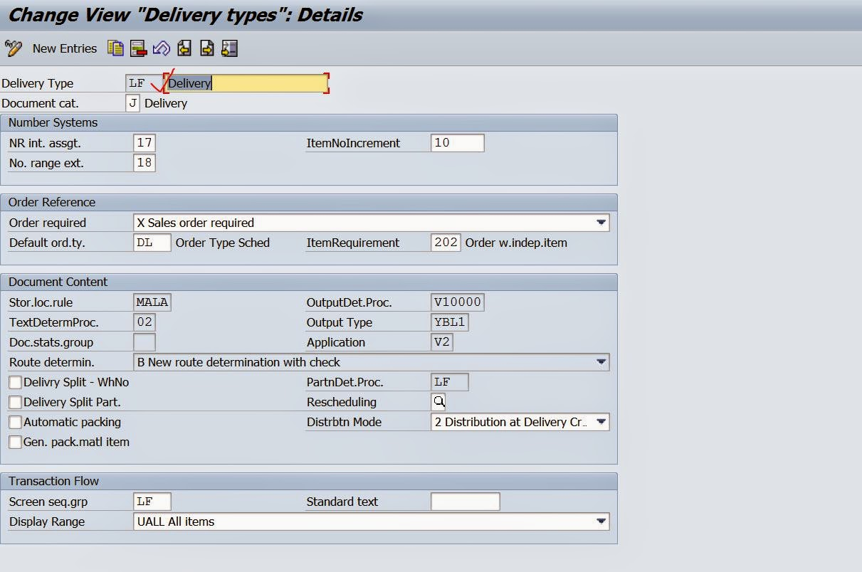 Defining New Delivery Document type In SD – SAPCODES