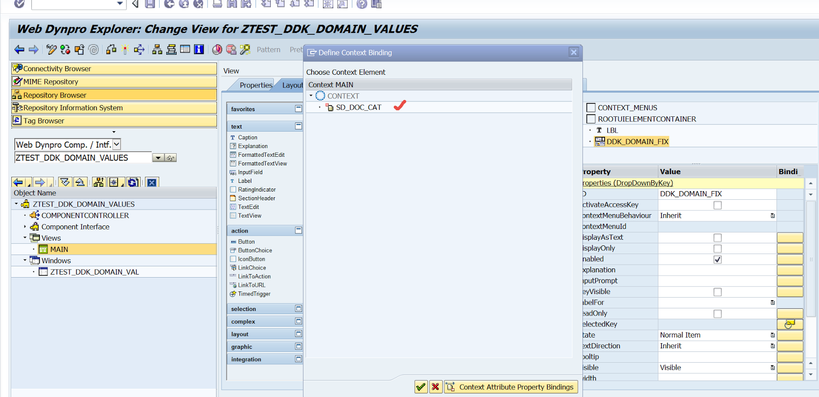 DropDown With Key using Domain fixed Values – SAPCODES