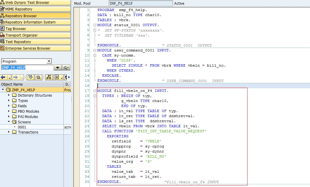 Process On Value-Request [POV] Event in Module Pool – SAPCODES