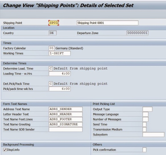 Creating A Plant Storage Location Shipping Point Linking Them Sapcodes