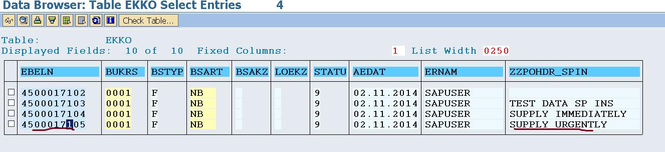 Screen Exit- ME21N/ME22N/ME23N- Header – SAPCODES
