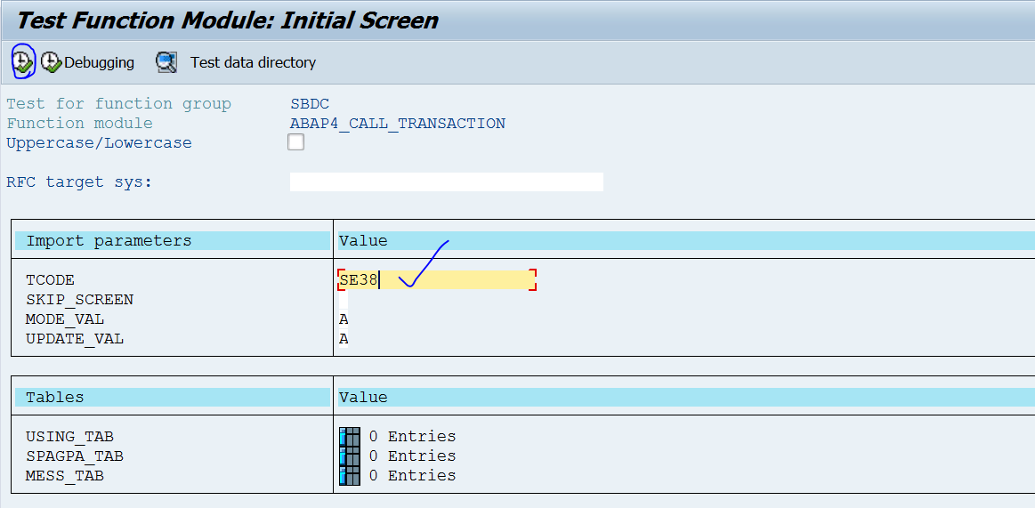 Standard FM to call any SAP Transaction – SAPCODES