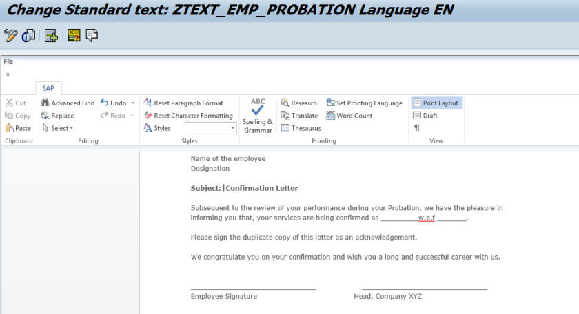 Using Standard Text In Adobe Form Sapcodes