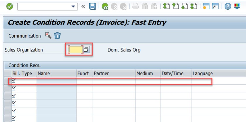 Condition Records for Billing Document Output – SAPCODES