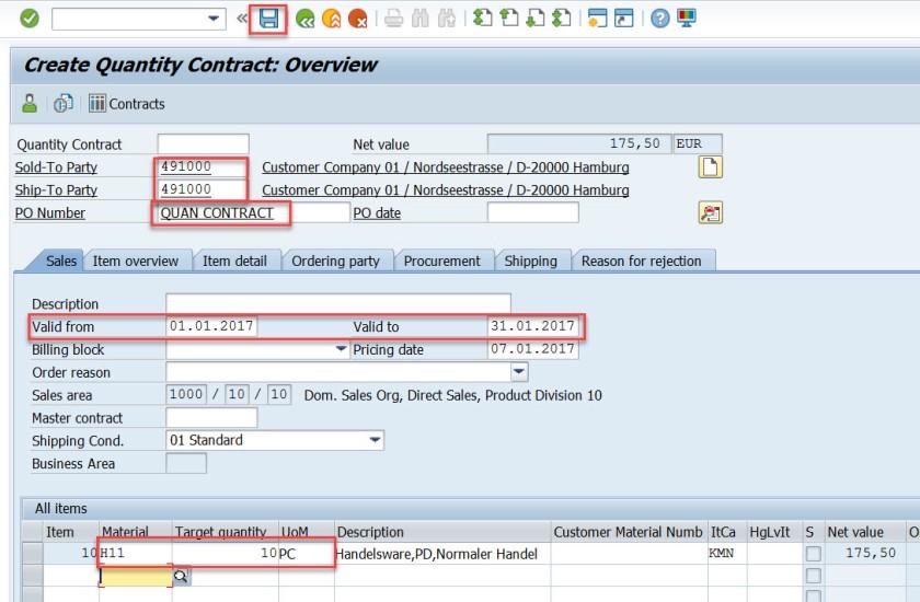 Contract Create Using BAPI-BAPI_CONTRACT_CREATEFROMDATA – SAPCODES