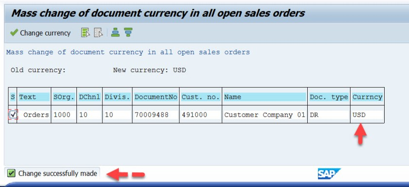 Open Sales Order Currency Change – SAPCODES