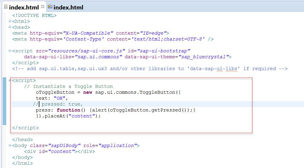 UI5-Toggle Button – SAPCODES