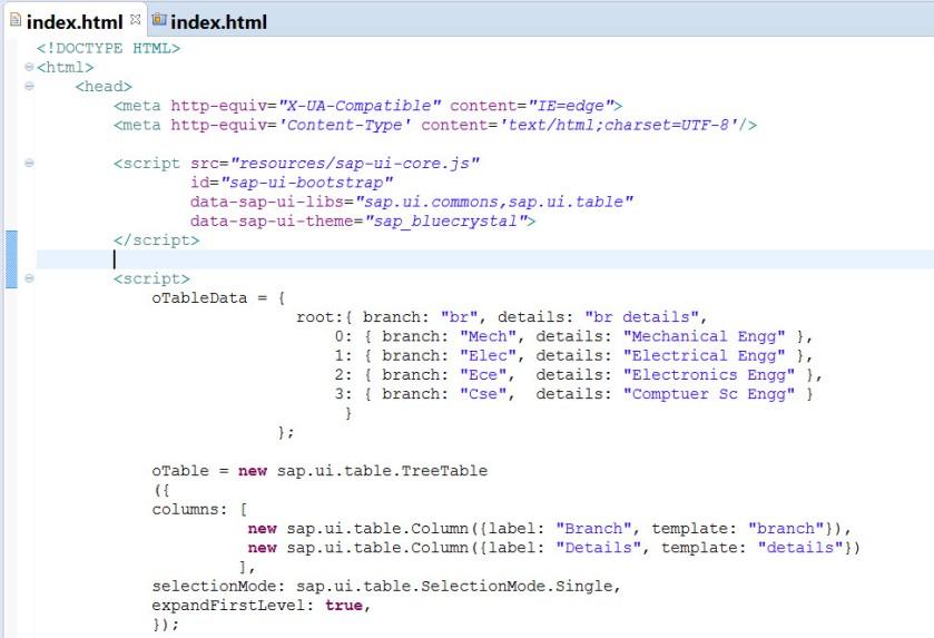 UI5- Tree Table – SAPCODES