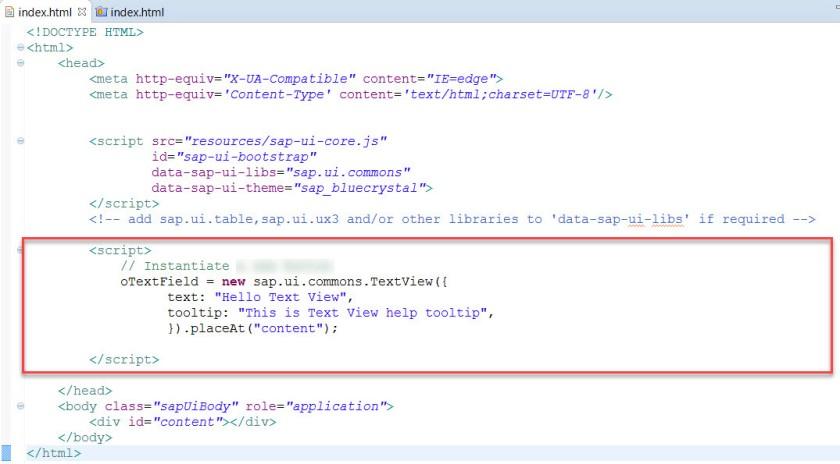 UI5-Text View – SAPCODES