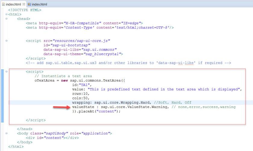 UI5-Text Area – SAPCODES