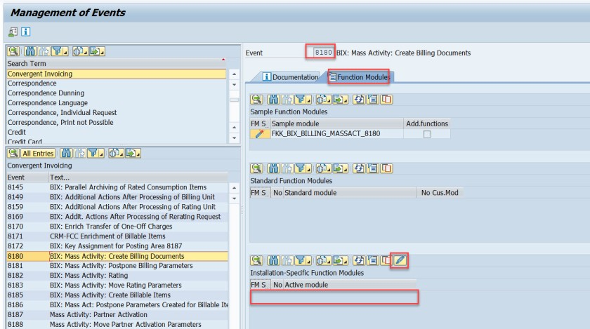 FICA- Events & Mass Activity Set UP – SAPCODES