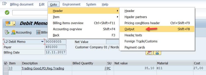 EDI Print Output Set for Billing Document – SAPCODES