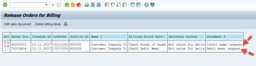 Mass Removal of SD Billing Block – SAPCODES