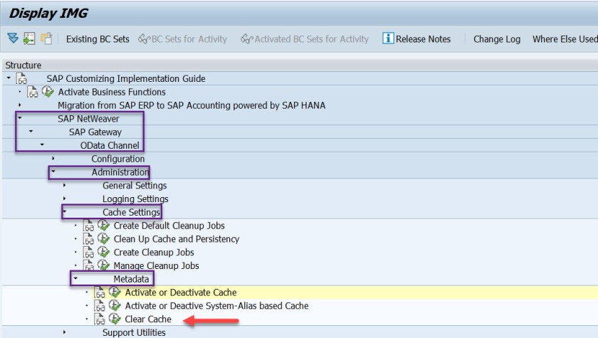 oDATA – Cache Cleanup – SAPCODES