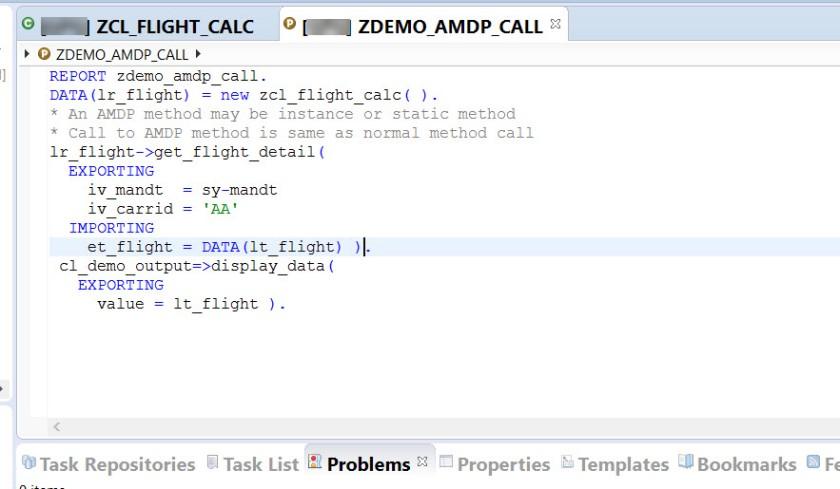 AMDP Method Call – SAPCODES