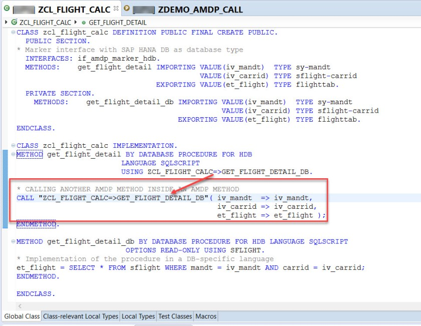 AMDP Method Call – SAPCODES