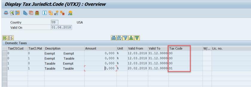 SD Tax Condition Records – SAPCODES