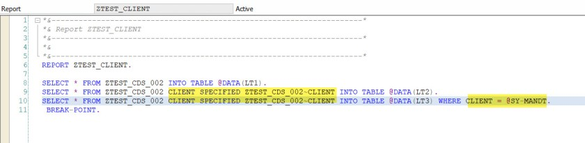 CDS View- Client Dependency – SAPCODES