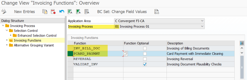 Payment Card Processing in Convergent Invoicing – SAPCODES